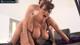 Busty Lisa Ann hardcore fuck with her boss