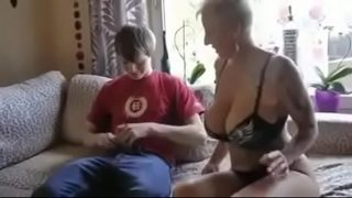 Busty step mom fucked hardcore by sons friend