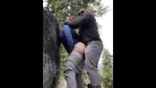Couple hardcore sex outdoor