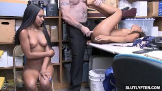 Demi Sutra and Lala Ivery taking turns getting romp by that white cock!