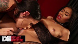 Deviant Hardcore – Gorgeous Babes Yasmine de Leon & Brandy Aniston Fucking Each Other Pussy