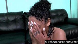 Ebony 19 year old humiliated hardcore