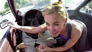 Horny Blonde MILF Tries To Sell Car, Ends Up Selling Herself!