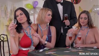 Milfs Cathy Heaven & Leigh Darby & Jasmine Jae Cum During New Year's Orgy