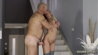 Old guy cums inside and young couples outdoors xxx Finally at home