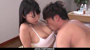 Strong Japanese hardcore with brunette Yu Shinohara